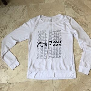 House of Tens Will Plank for Pizza sweatshirt sz S